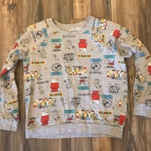 Mighty Fine Peanuts Sweatshirt Small
